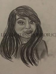 Self Portrait practice by xLittle-Miss-Horrorx