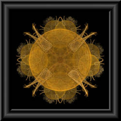 Golden Fractal In 3d Glass Frame by whoami911