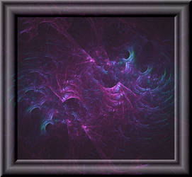 Fractal Ocean In 3d Glass Frame by whoami911