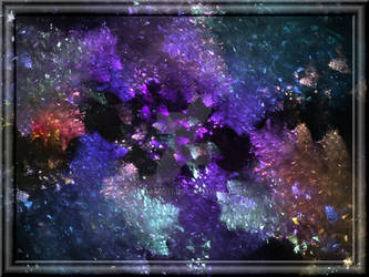 Beautiful Fractal Background In 3d Glass