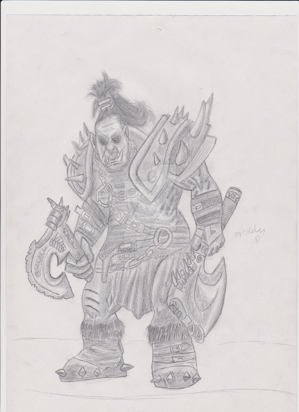 Warcraft Orc Fanart