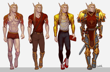 Caelthiel reference sheet by Koettboid