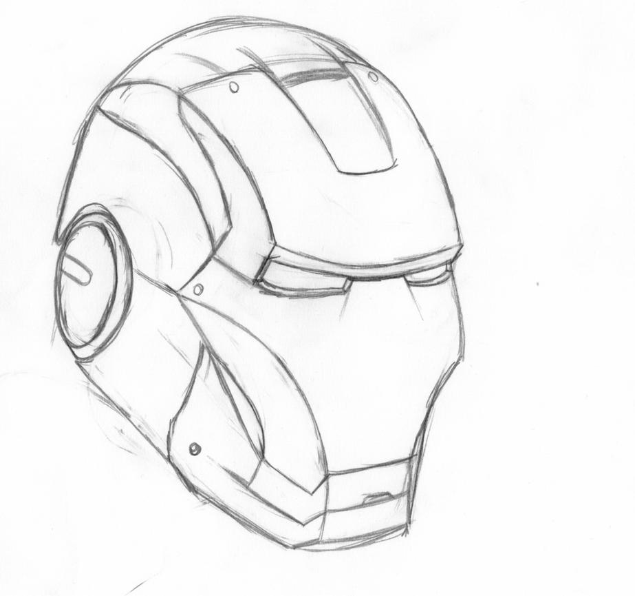 Iron Man Armor Sketch Iron man's mask-WIP by...