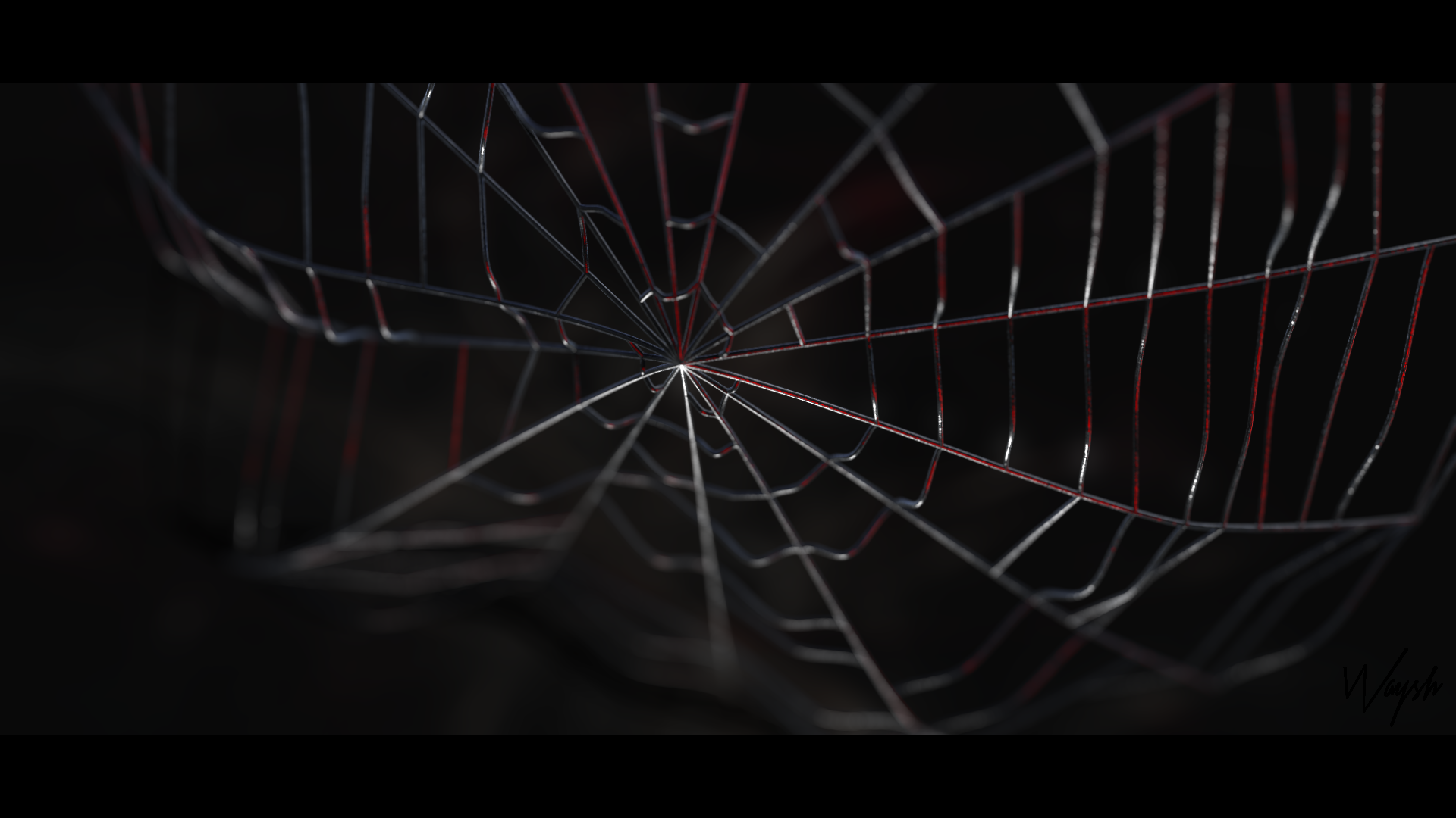 spiderman web 3d artwork by waysh on deviantart