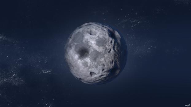 Blue Night Moon