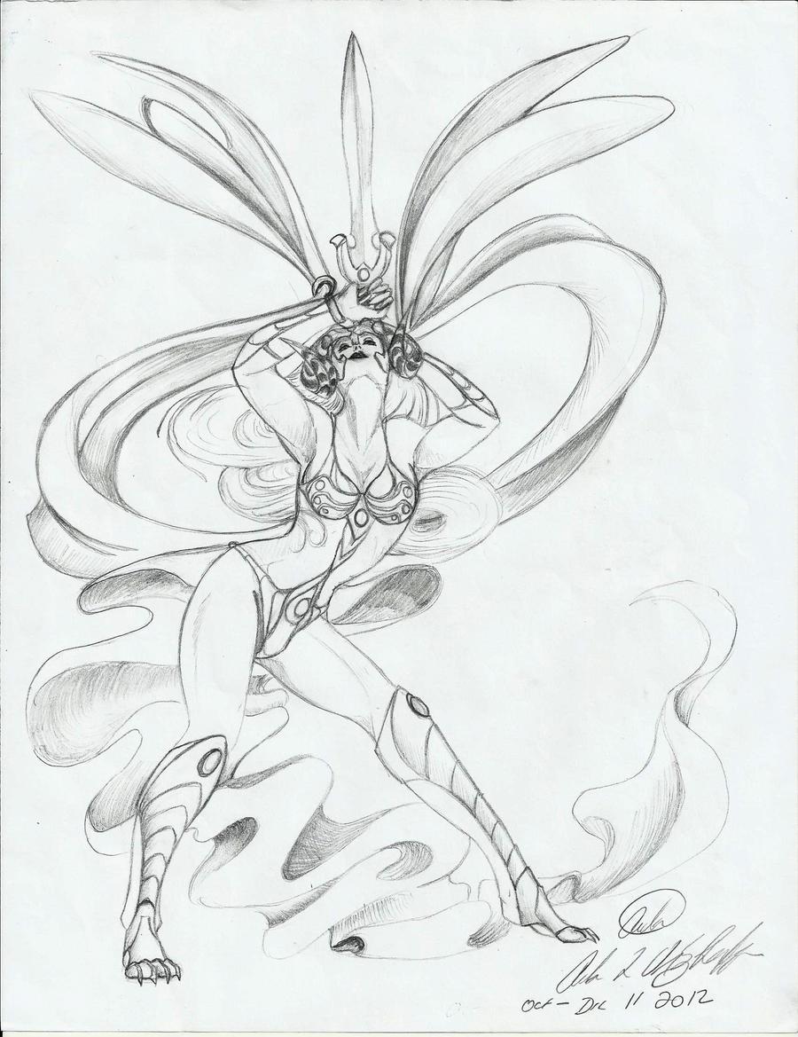 Tassel Dragon Warrior-Dancer by Nakumah