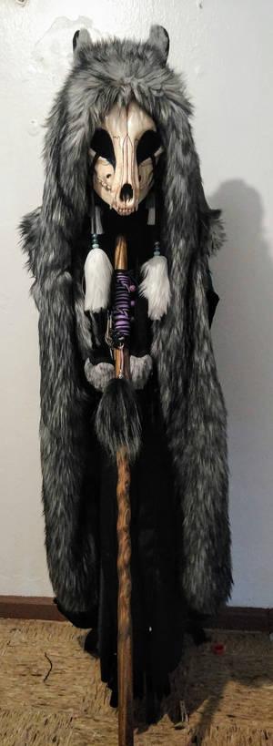 Shadow Fox (Wolf) coat with Skull WIP