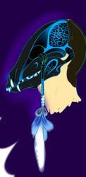 The Winter Nomad Turquoise K9 Skull Design