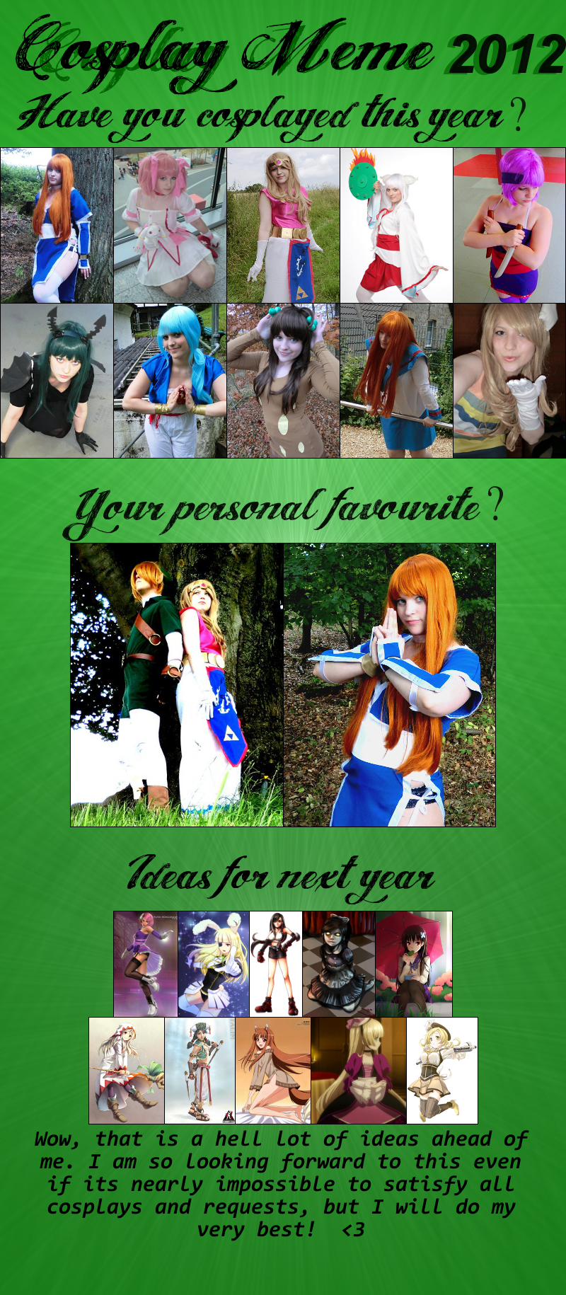 Cosplay Meme 2012 by Bellaju