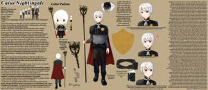 OC Caius Reference Sheet by Fuyukine