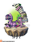 Island Pony - Twilight and Spike (EDITED) by NorthernSprint