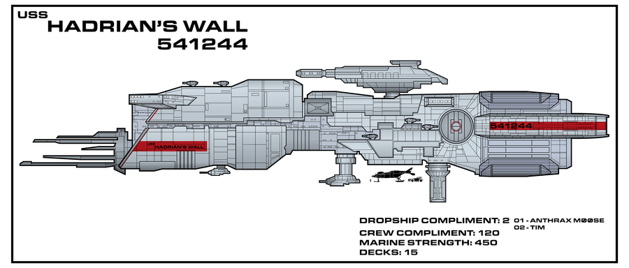 USS Hadrians Wall Aliens Expanded Universe By Bmused55 On DeviantArt