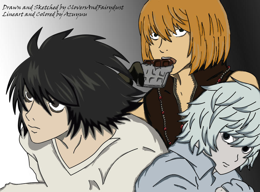 Death Note-L, Mello, Near by Azuyuu on DeviantArt