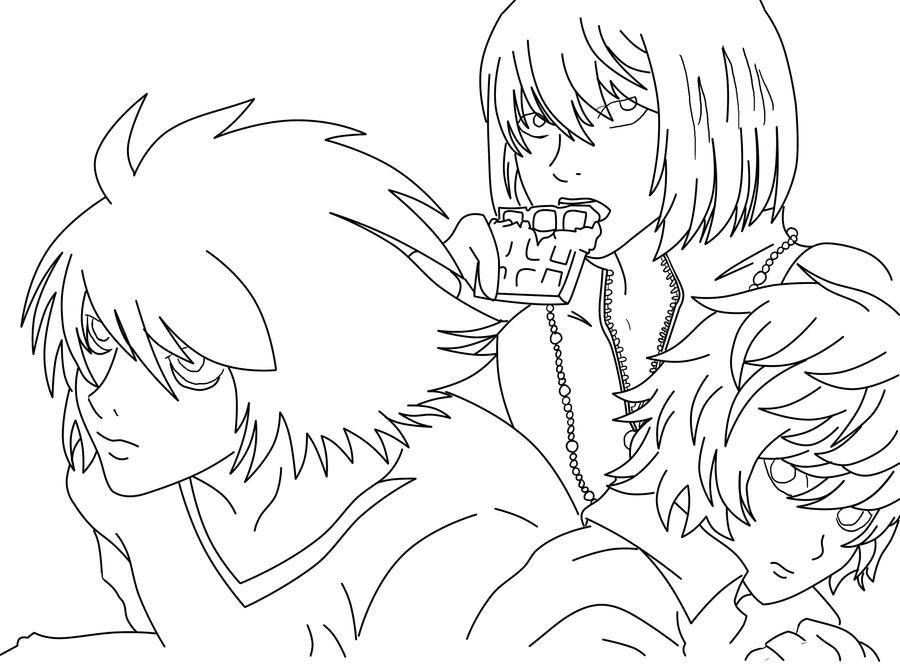 Death Note Lineart by Azuyuu on DeviantArt