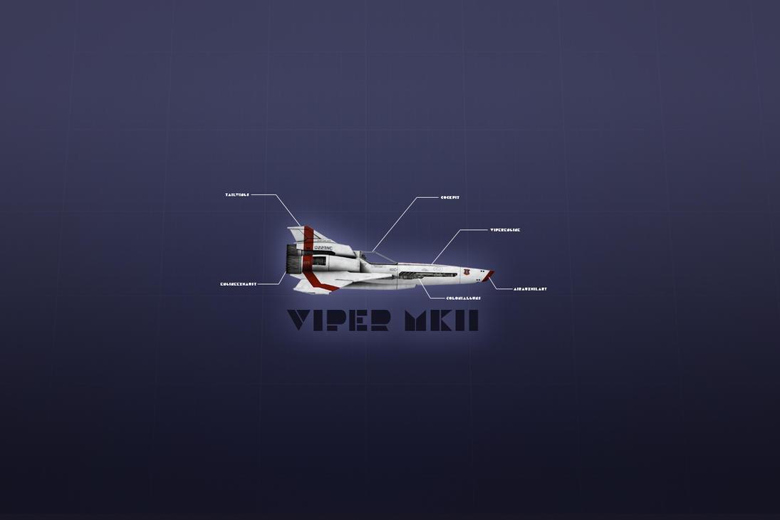 Battlestar Galactica Viper MK2 by ByronFortescue