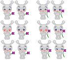 Bunny emote set
