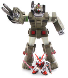 Gundam FA-78 and SD Astray by alienspawn