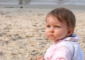 Baby Girl at the Beach by alienspawn