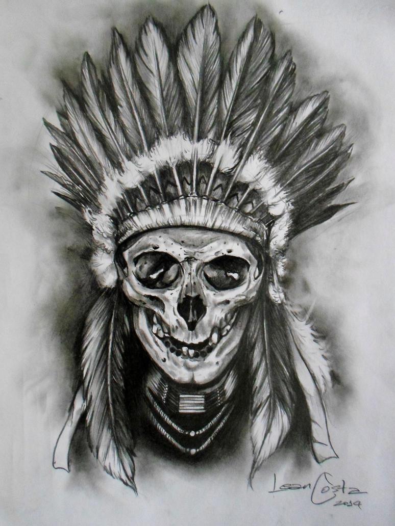 indian skull by leancosta on deviantart