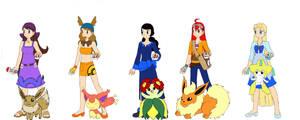 Pokemon Trainers by RiverAngel16