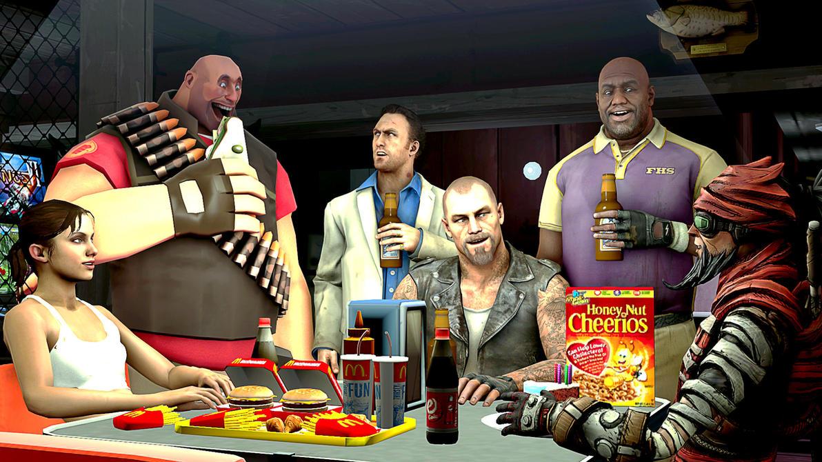 At The Bar by Deadpoolbutt