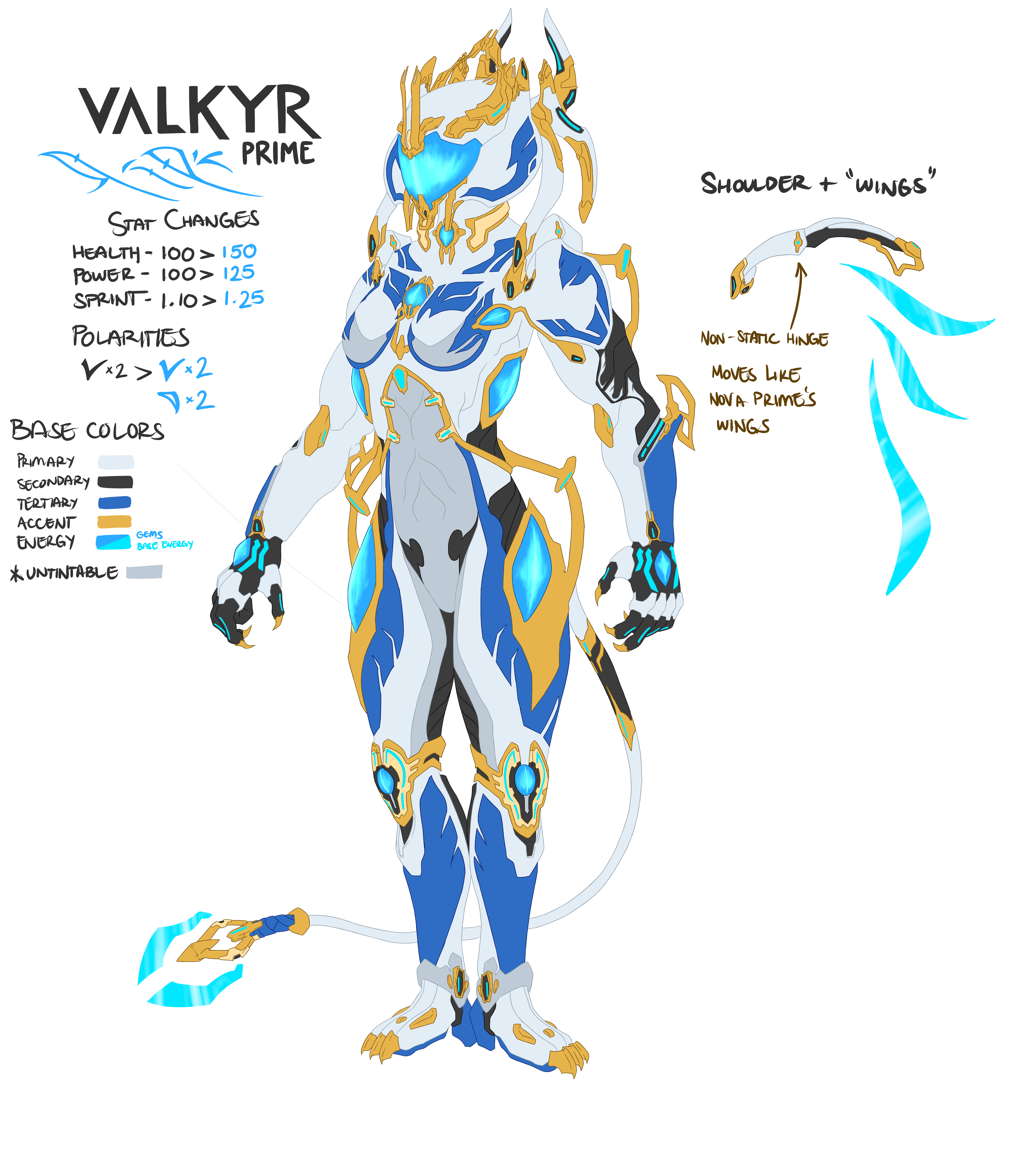 Prime Concept Valkyr Prime Jewel Of The Orokin Fan