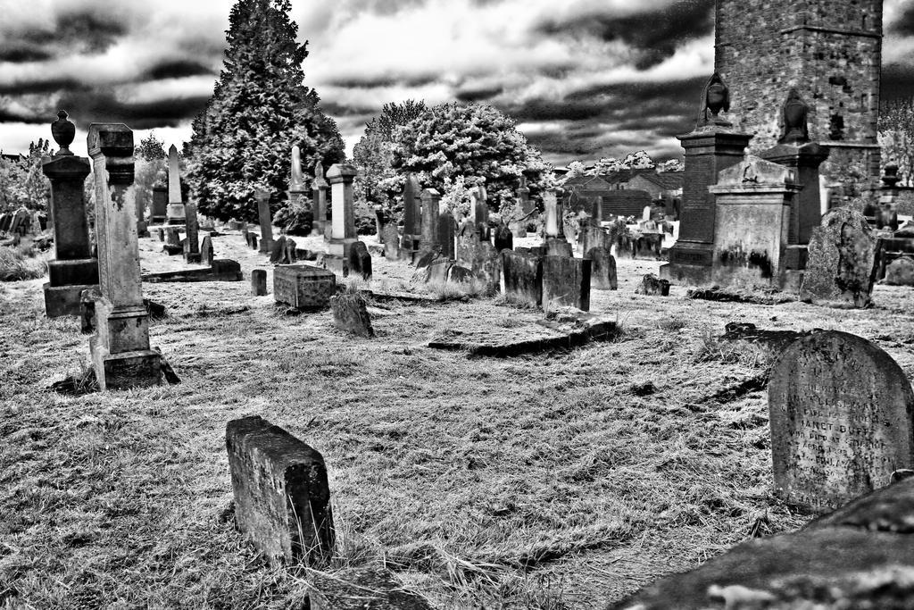 Spooky old Graveyard by BusterBrownBB
