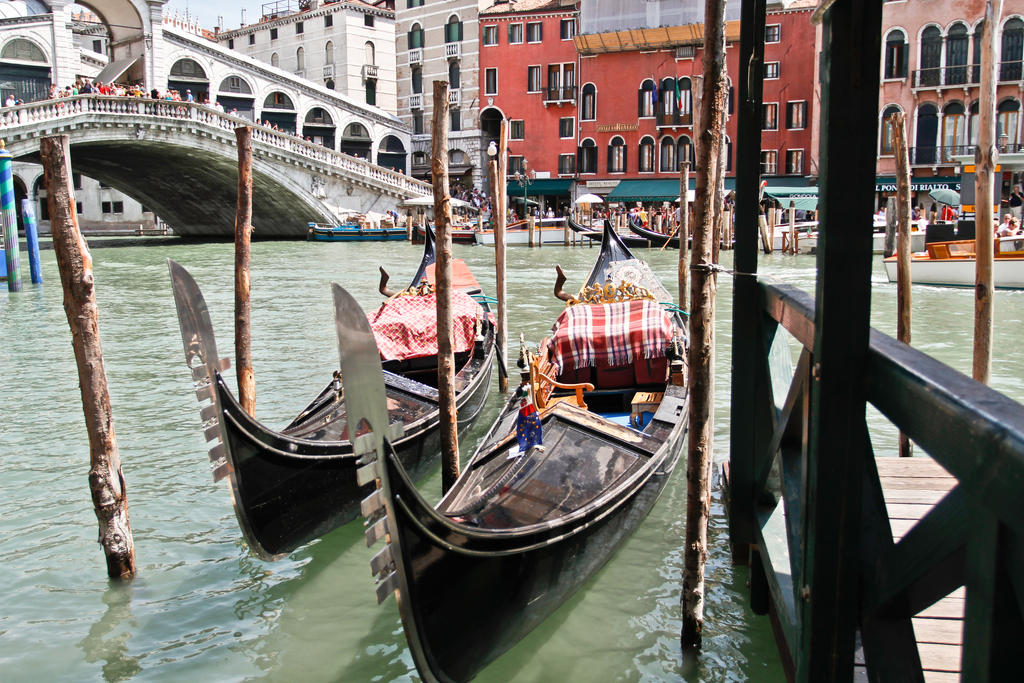 Gondolas in Venice by BusterBrownBB
