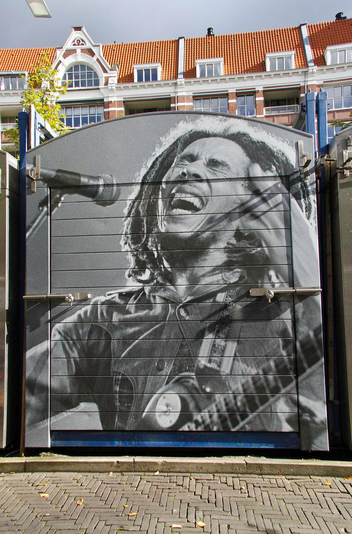 Bob Marley Street Art by BusterBrownBB