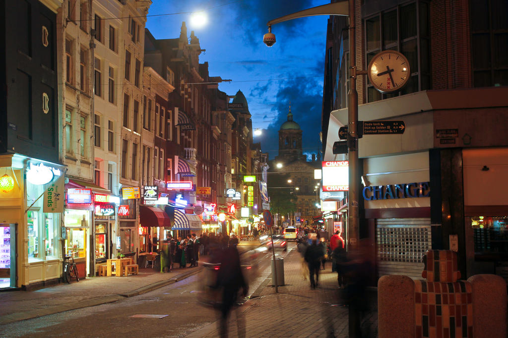 A busy Street in Amsterdam by BusterBrownBB