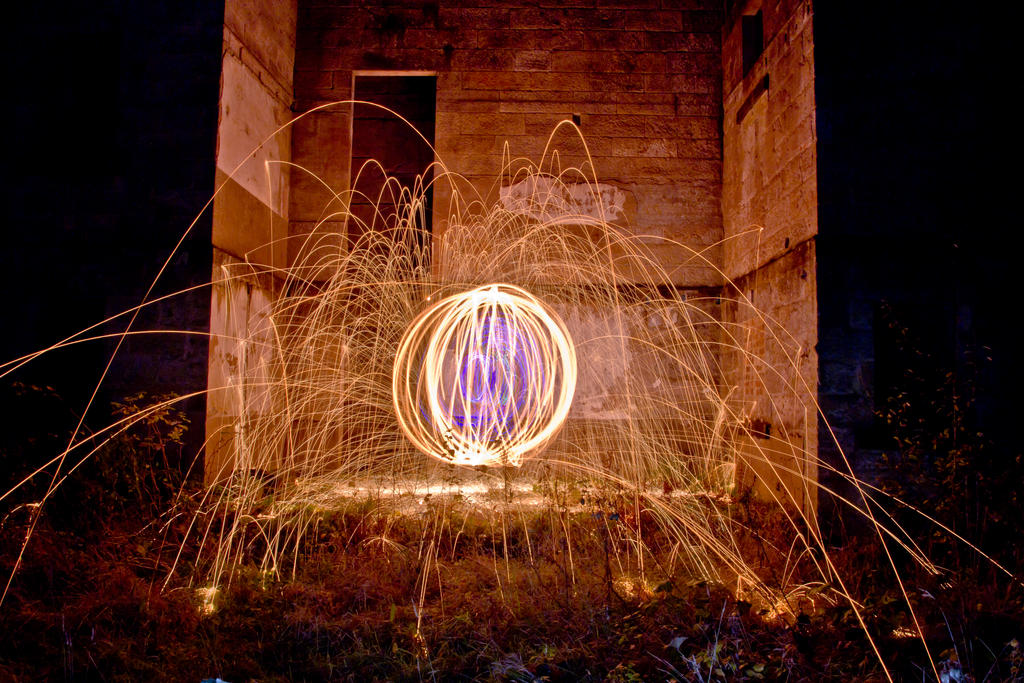 Wire Wool spinning #6 by BusterBrownBB