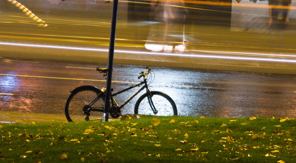 Lonely bike by BusterBrownBB