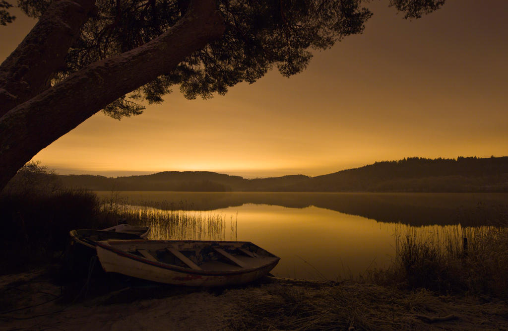 Late Evening at Loch Ard in Stirlingshire by BusterBrownBB
