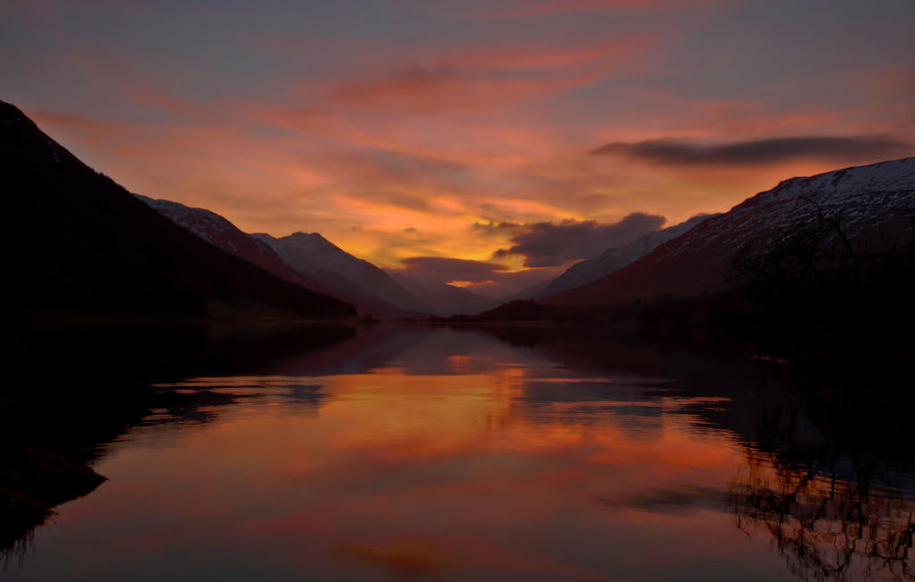 Sunset over Loch Doine by BusterBrownBB