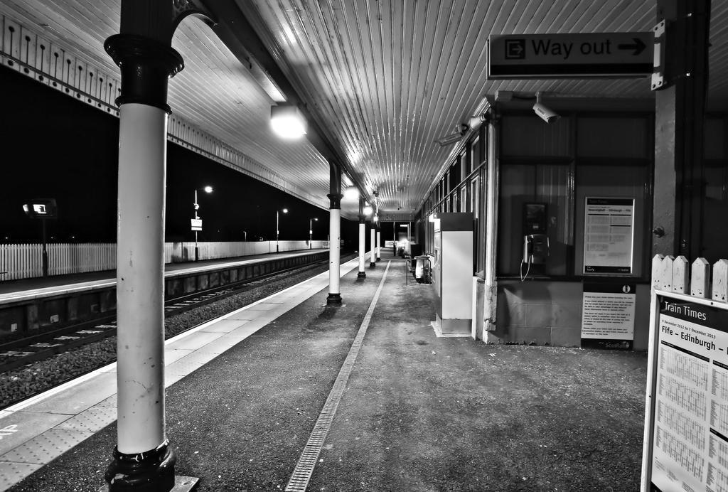 Dalmeny Station at Night by BusterBrownBB