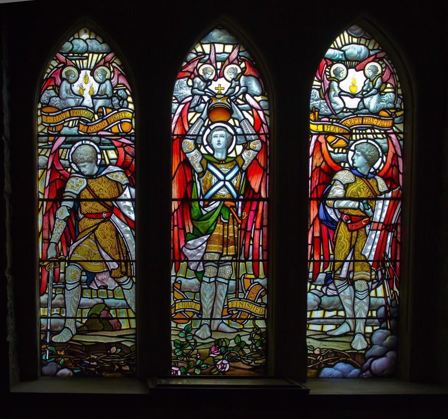 Glazed windows inside St Conan's Kirk by BusterBrownBB