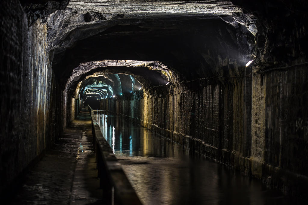 The Falkirk Tunnel and Canal by BusterBrownBB