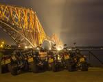 Bikes parked at Forth Bridge