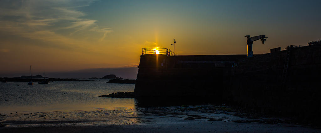 North Berwick Harbour at Sunset by BusterBrownBB