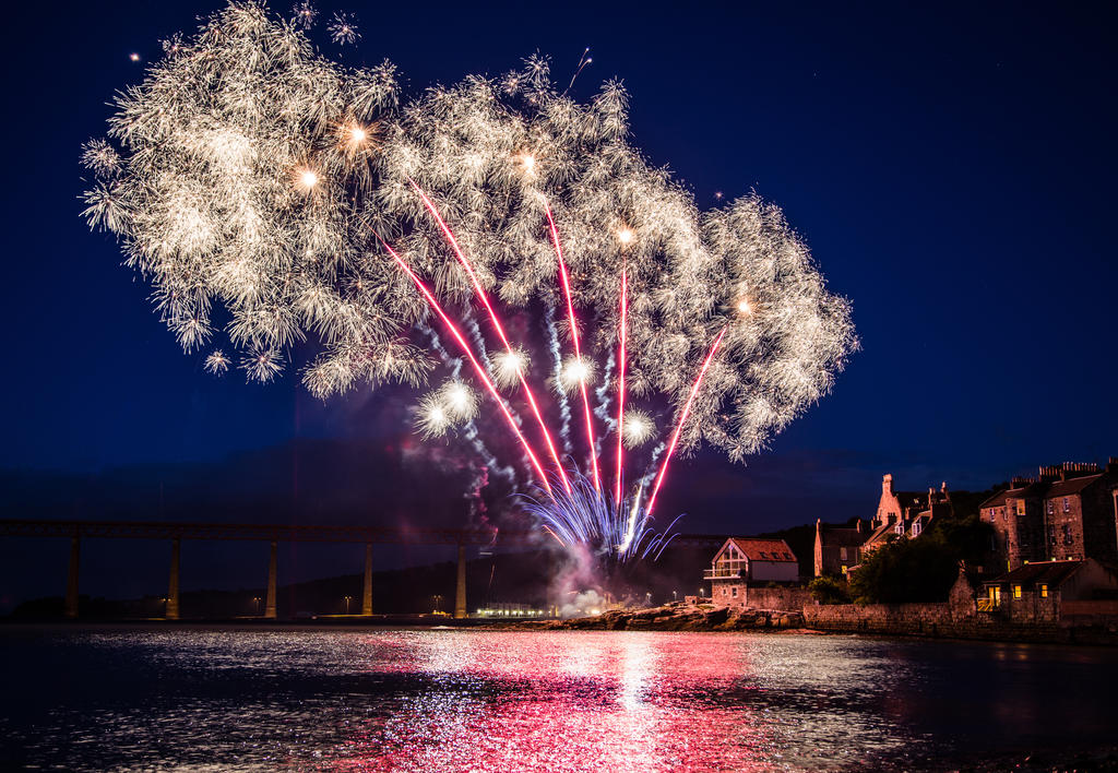 Fireworks over South Queensferry, Scotland. 2 by BusterBrownBB
