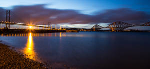Forth Bridges, South Queensferry, Scotland.