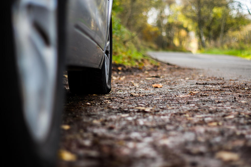 Flat tyre by BusterBrownBB