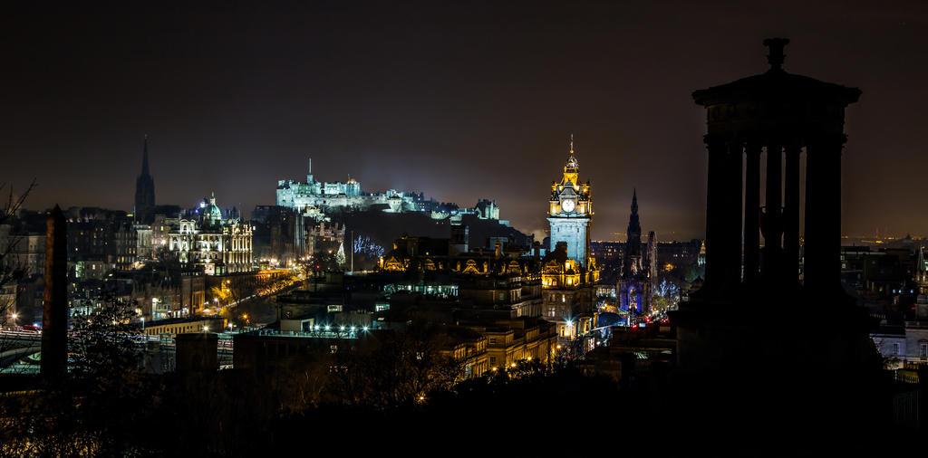 Edinburgh Night City Skyline by BusterBrownBB