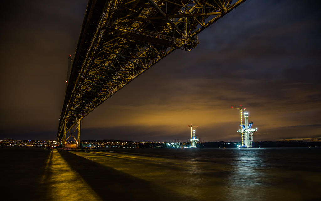 Forth Bridge, old and new, Scotland by BusterBrownBB