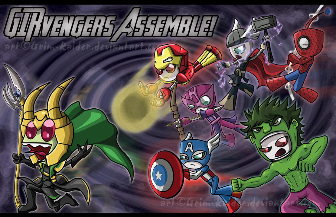 GIRvengers Assemble! by Grim-Raider