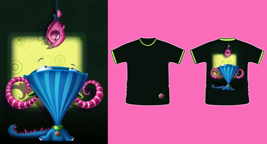 Game! (cute monsters t-shirt) by ElitsaBlagoeva