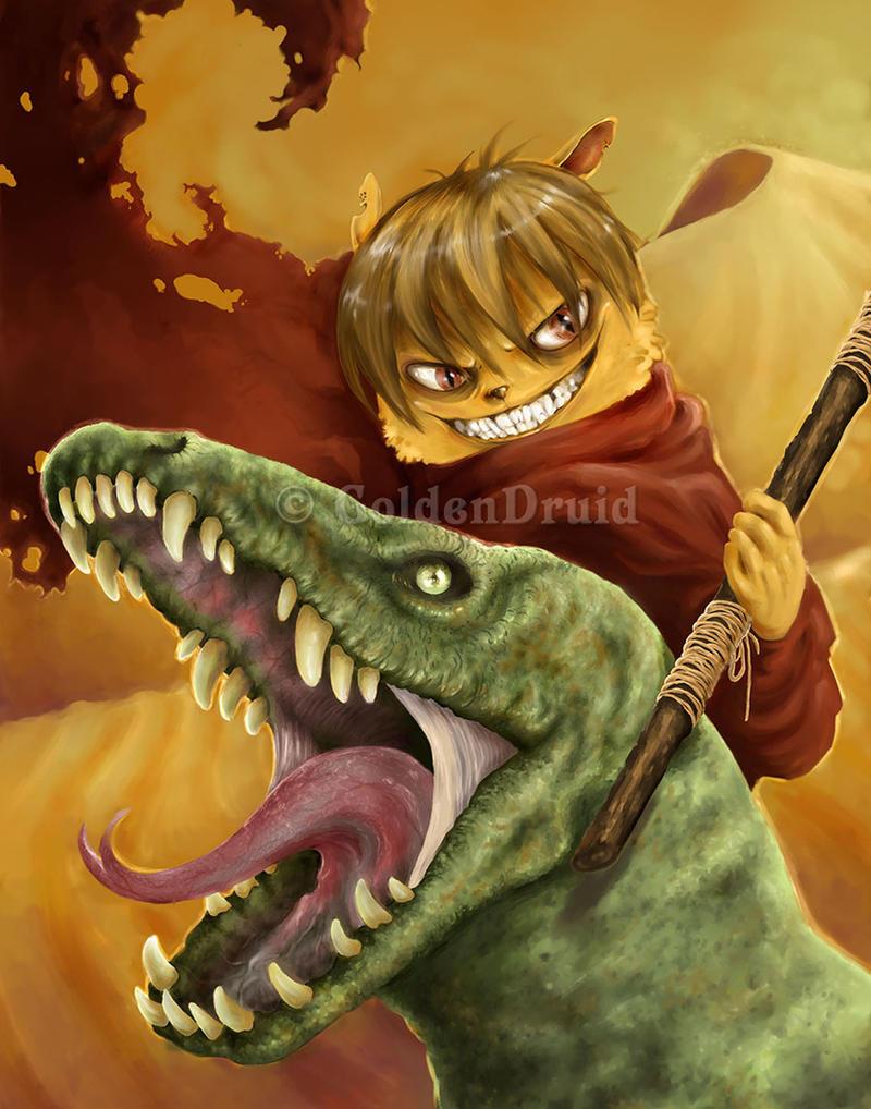 Lizard Tamer by GoldenDruid