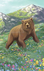 Mountain Bear by GoldenDruid
