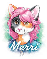 Merri Illustration Badge by GoldenDruid