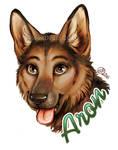 Aron Painted Portrait Badge